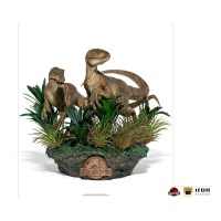 Jurassic Park: Deluxe Just the Two Raptors 1:10 Scale Statue Iron Studios Product