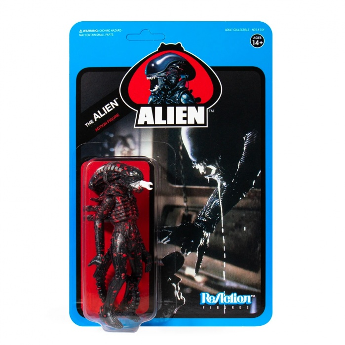 Alien: Wave 3 - Bloody Alien Open Mouth Blue Card 3.75 inch ReAction Figure Super7 Product