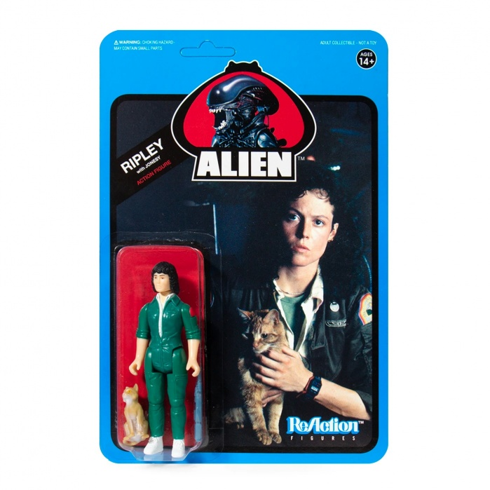 Alien: Wave 3 - Ripley with Jonesy Blue Card 3.75 inch ReAction Figure Super7 Product