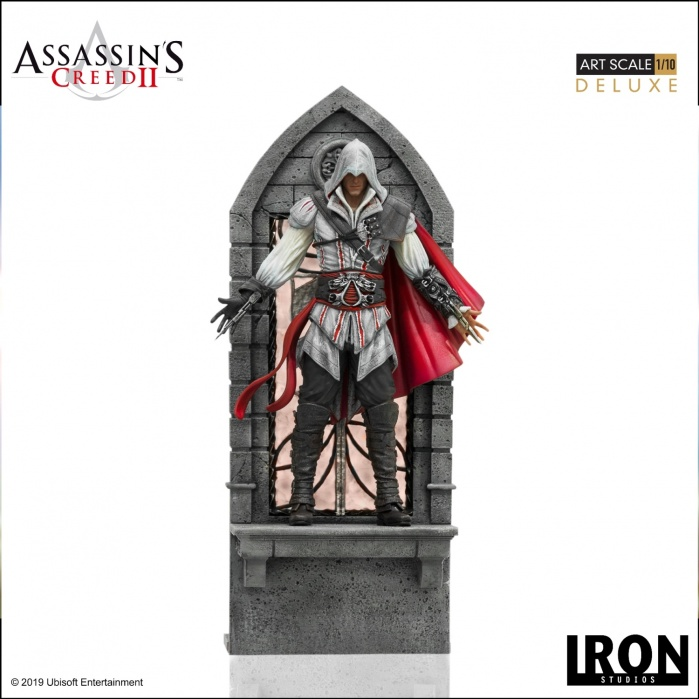 Assassin's Creed 2: Deluxe Ezio Auditore 1:10 Scale Statue Iron Studios Product