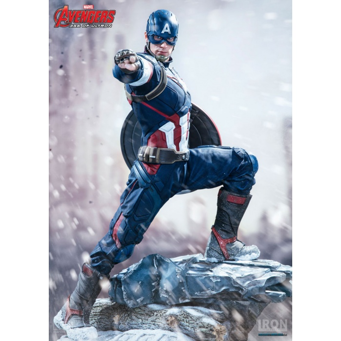 Avengers Age of Ultron Statue 1/4 Captain America Iron Studios Product