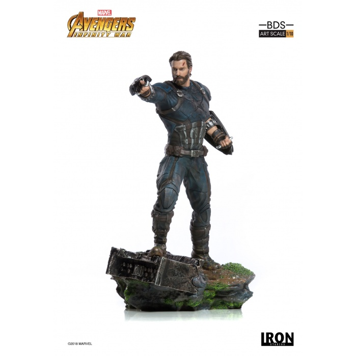 Avengers Infinity War - Captain America 1/10 Scale Statue Iron Studios Product