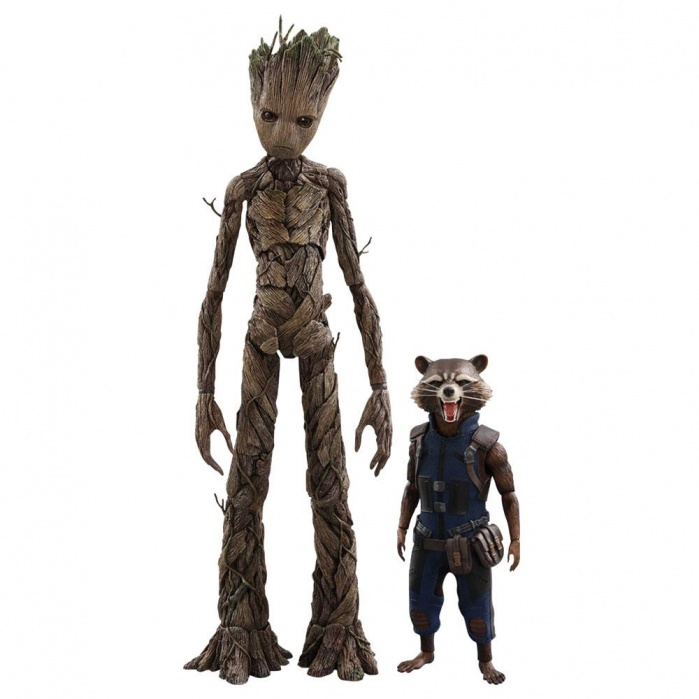 Avengers Infinity War Figures Groot & Rocket Hot Toys Product