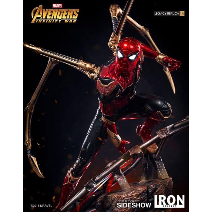 Avengers Infinity War Legacy Replica Statue 1/4 Iron Spider-Man Iron Studios Product