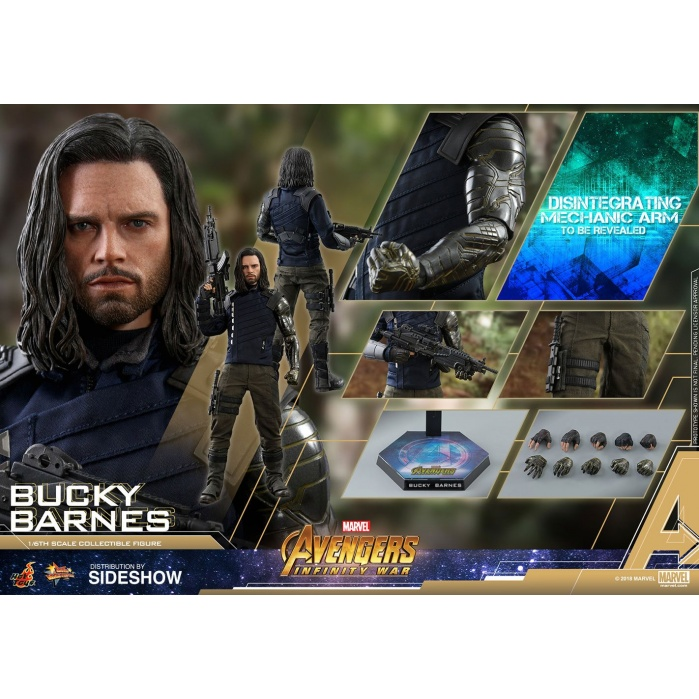 Avengers Infinity War Movie Masterpiece Action Figure 1/6 Bucky Hot Toys Product