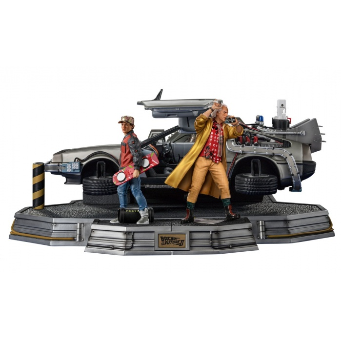 Back to the Future 2: Delorean Full Set Deluxe Version 1:10 Scale Statue Iron Studios Product