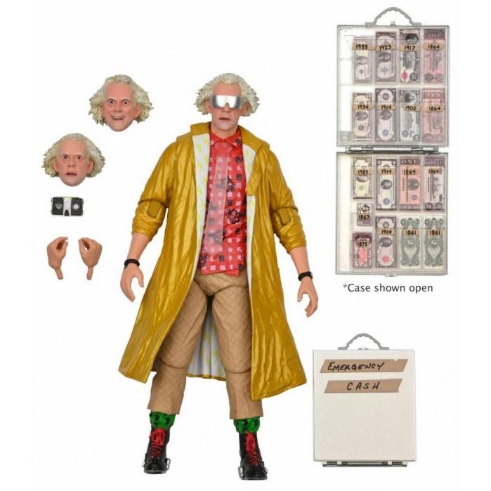 Back to the Future 2: Ultimate Doc Brown 2015 7 inch Action Figure NECA Product