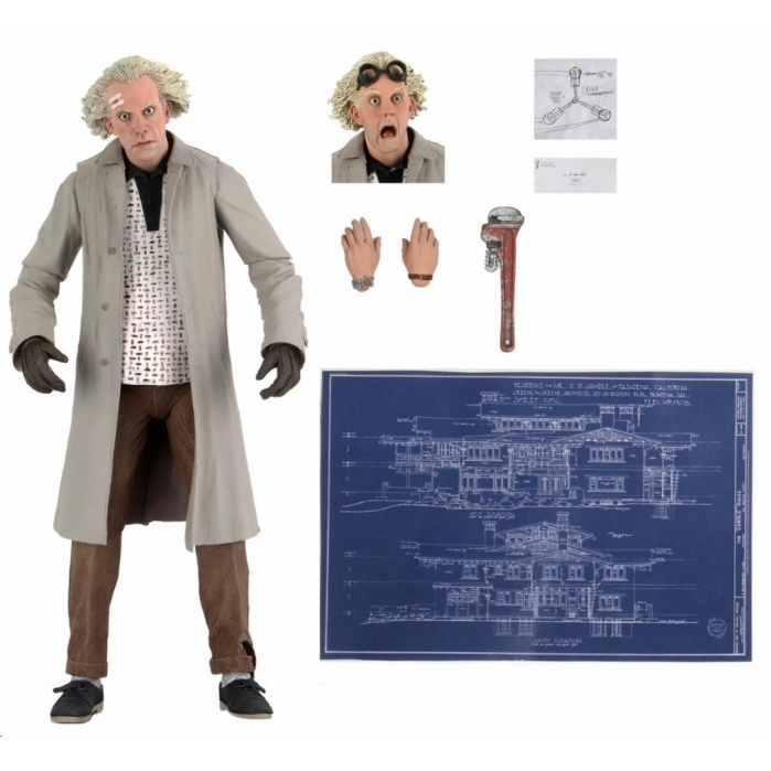 Back to the Future: Ultimate Doc Brown 7 inch Action Figure NECA Product