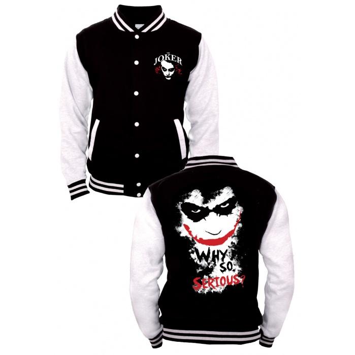 Batman Baseball Varsity Jacket Joker Codi Product