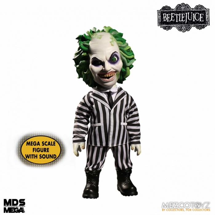 Beetlejuice: Mega Scale Talking Beetlejuice 15 inch Action Figure Mezco Toyz Product
