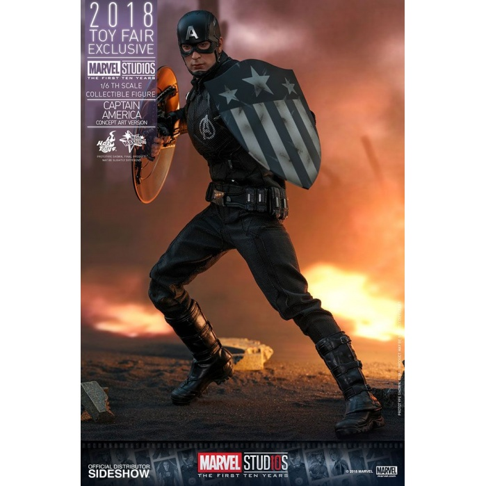 Captain America 1/6 Concept Art 2018 Toy Fair Exclusive Hot Toys Product