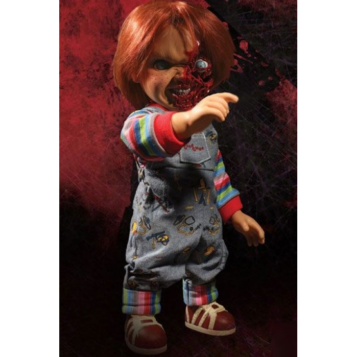 Child´s Play 3 Talking Pizza Face Chucky Mezco Toyz Product