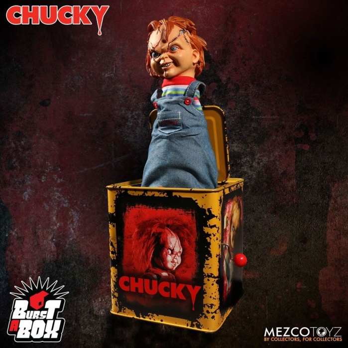 Chucky  Burst-A-Box Music Box Mezco Toyz Product