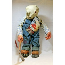 "Cinema Of Fear Friday the 13th part 2 JASON VOORHEES 12"" Figure Plush Bag 