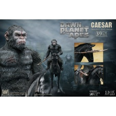 Dawn of the Planet of the Apes: Caesar with Spear on Horse PVC Statue | Star Ace Toys