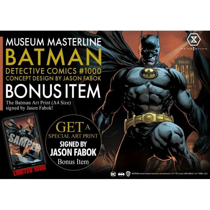DC Comics: Batman Detective Comics #1000 - Deluxe Concept Design Bonus Version Statue Prime 1 Studio Product