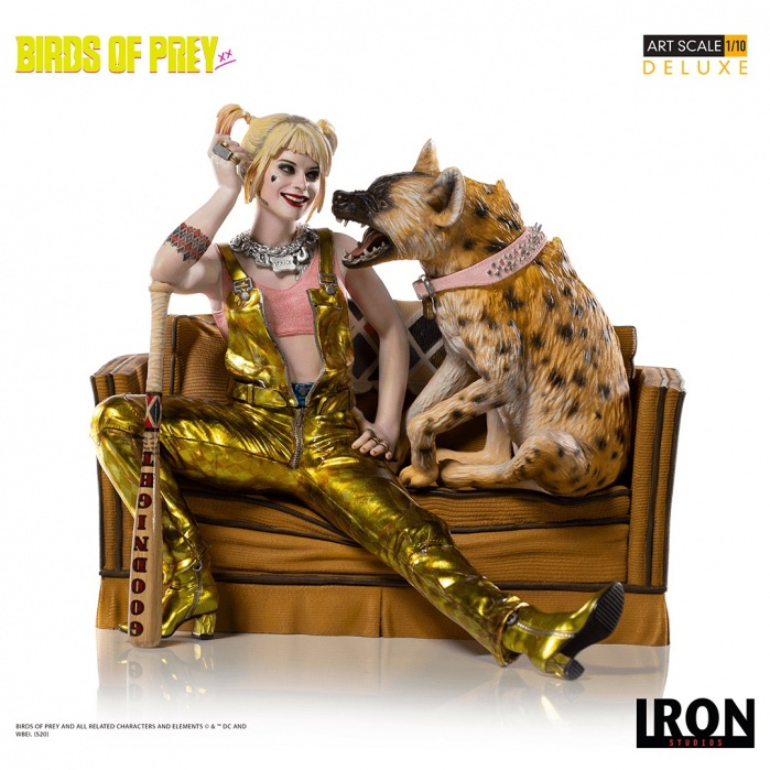 DC Comics: Birds of Prey - Harley Quinn and Bruce 1:10 Scale Statue Iron Studios Product
