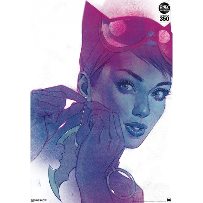 DC Comics: Catwoman #7 Unframed Art Print Sideshow Collectibles Product