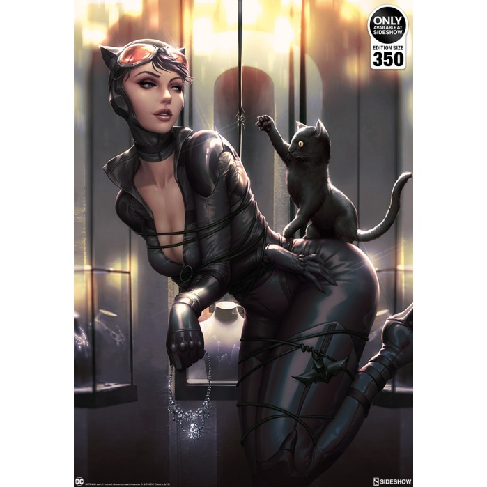 DC Comics: Catwoman - All Tied Up Unframed Art Print Sideshow Collectibles Product