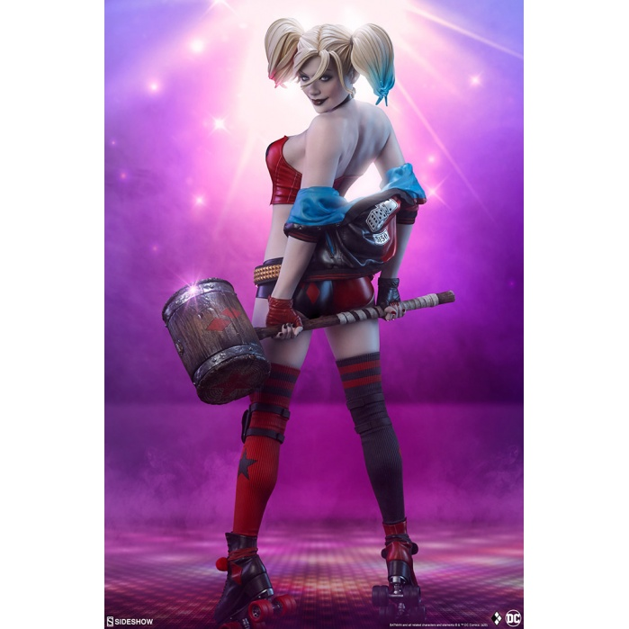 DC Comics: Harley Quinn Hell on Wheels Premium Statue Sideshow Collectibles Product