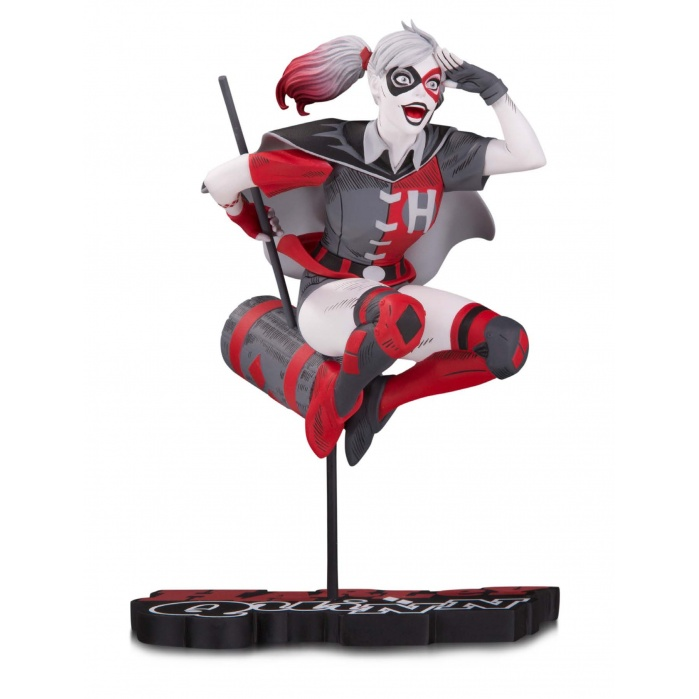 DC Comics: Harley Quinn Red White and Black Statue by Guillem March Diamond Select Toys Product