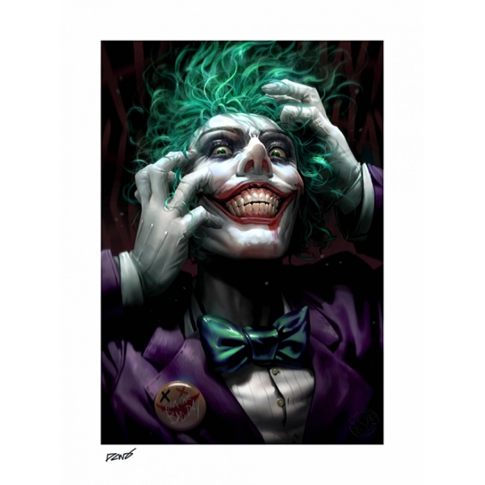 DC Comics: The Joker Just One Bad Day Unframed Art Print Sideshow Collectibles Product