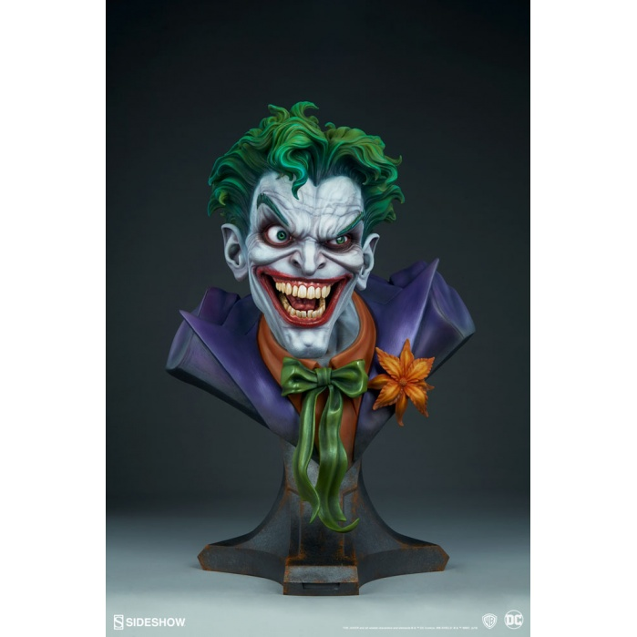 DC Comics: The Joker Life Sized Bust Sideshow Collectibles Product