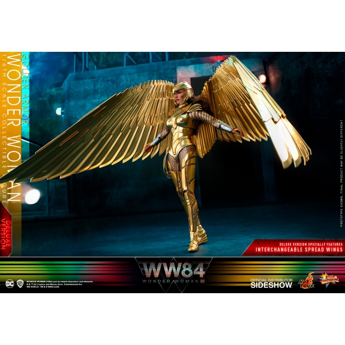 DC Comics: Wonder Woman 1984 - Deluxe Golden Armor Wonder Woman 1:6 Scale Figure Hot Toys Product