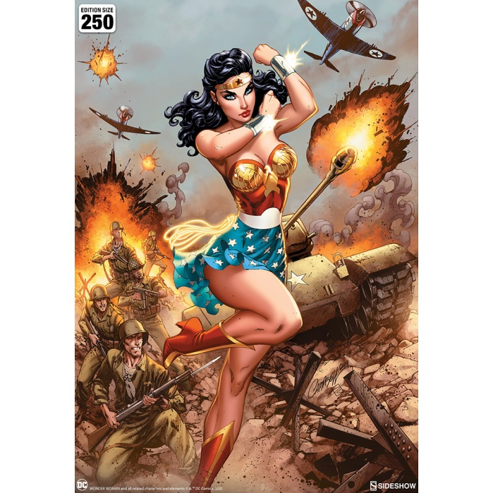 DC Comics: Wonder Woman #750 WWII Unframed Art Print Sideshow Collectibles Product