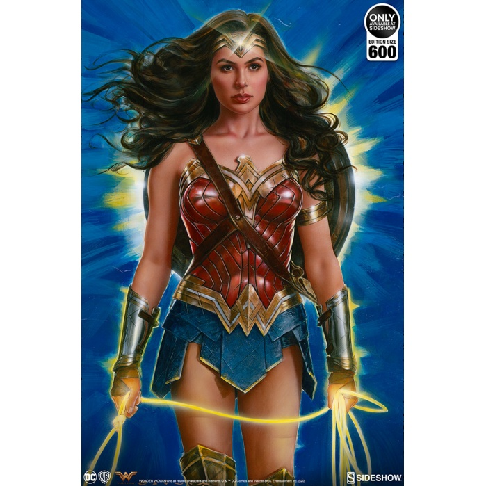 DC Comics: Wonder Woman - Lasso of Truth Unframed Art Print Sideshow Collectibles Product