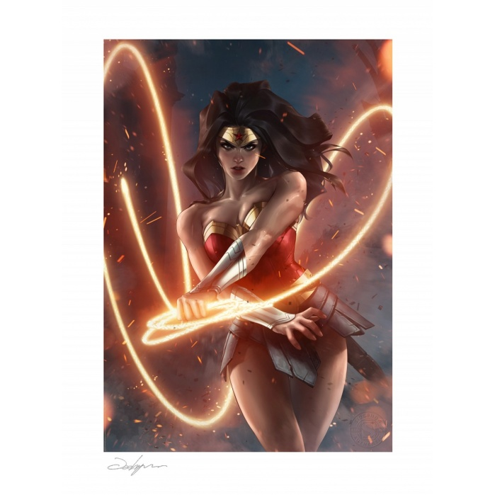 DC Comics: Wonder Woman Unframed Art Print by Jeehyung Lee Sideshow Collectibles Product