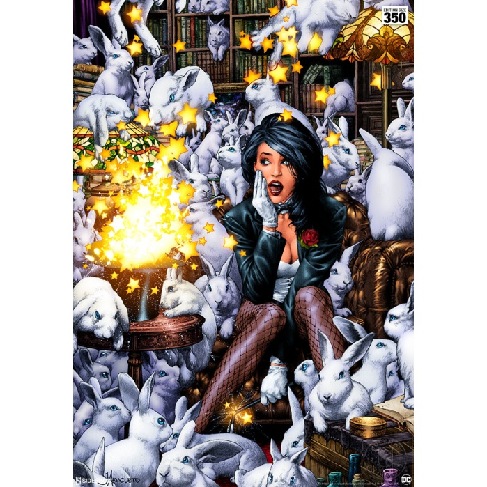 DC Comics: Zatanna Unframed Art Print Sideshow Collectibles Product