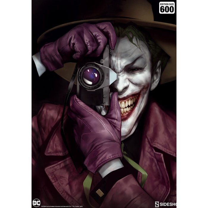 DC: The Joker Unframed Art Print Sideshow Collectibles Product