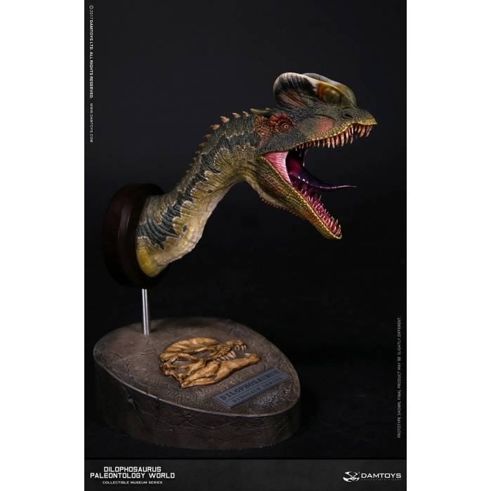 Dilophosaurus Bust Brown version Damtoys Product