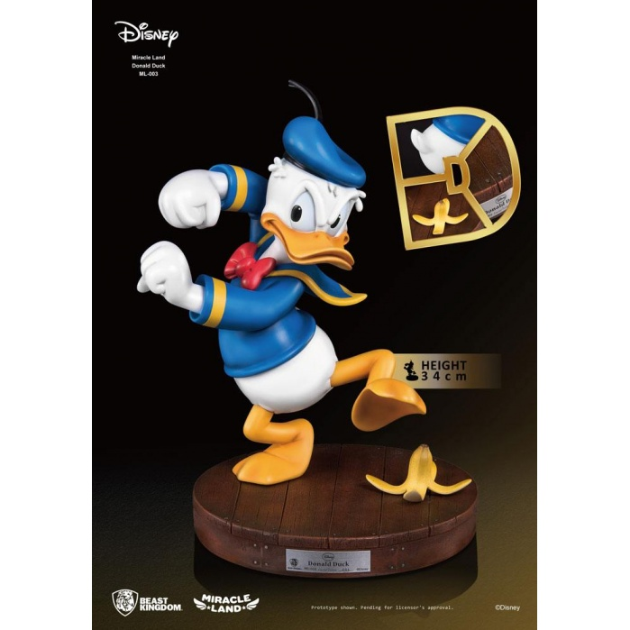Disney Miracle Land Statue Donald Duck Beast Kingdom Product