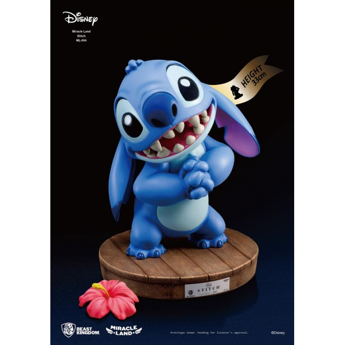 Disney Miracle Land Statue Stitch 33 cm Beast Kingdom Product