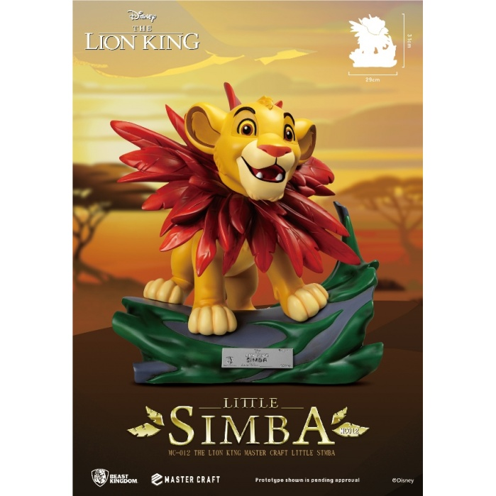 Disney: The Lion King - Master Craft Little Simba Statue Beast Kingdom Product