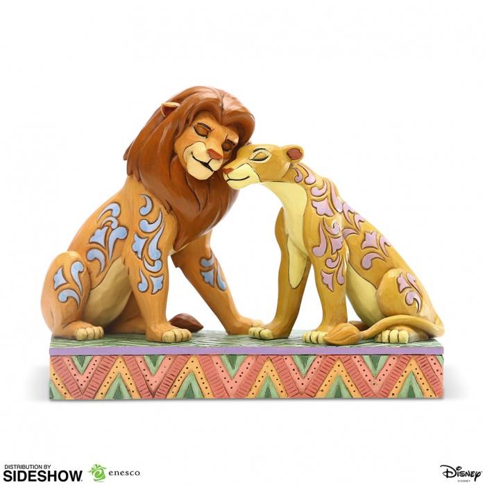 Disney: The Lion King - Simba and Nala Snuggling Figurine Sideshow Collectibles Product