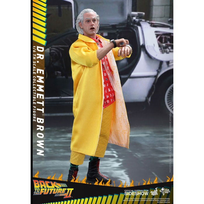 Dr Emmett Brown Back to the Future II 1/6 Hot Toys Product