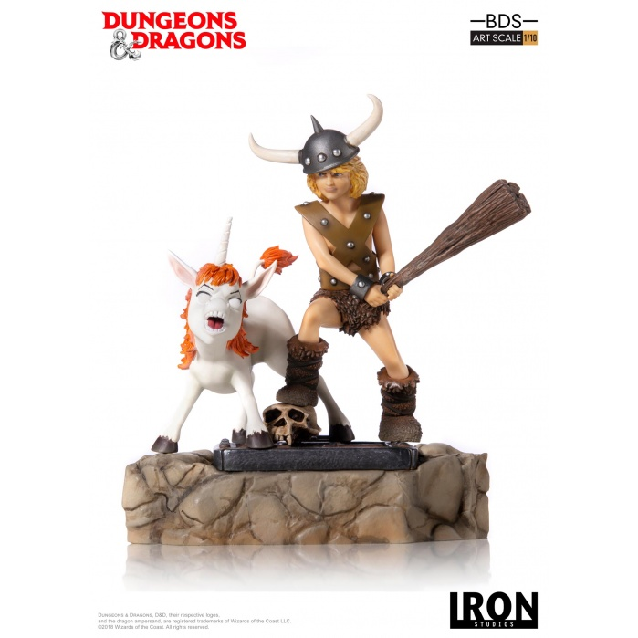 Dungeons and Dragons: Bobby the Barbarian and Uni 1:10 Scale Statue Iron Studios Product