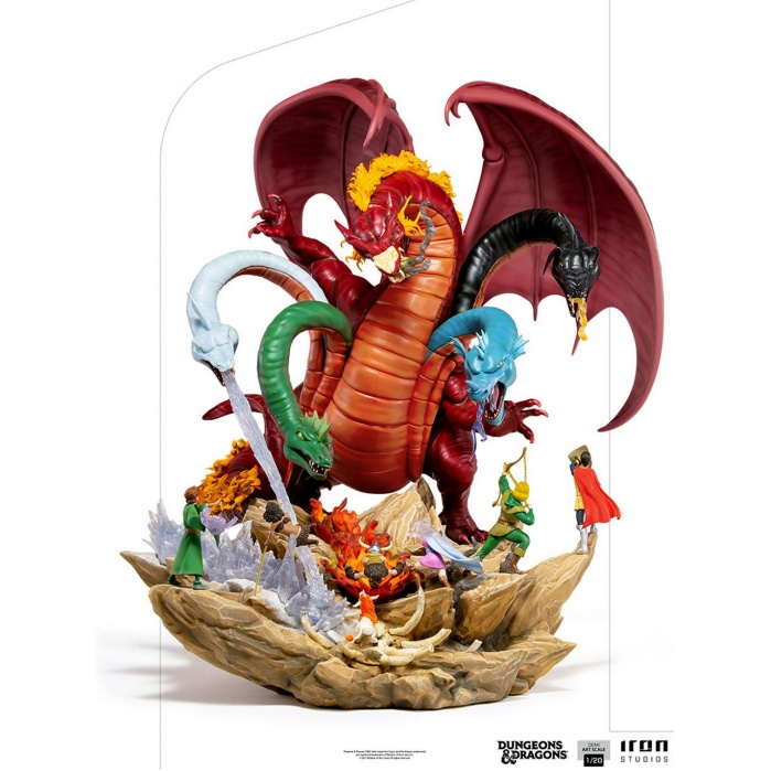 Dungeons and Dragons: Tiamat Battle 1:20 Scale Statue Iron Studios Product