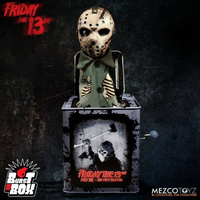 Friday the 13th Burst-A-Box Music Box Jason Voorhees Mezco Toyz Product