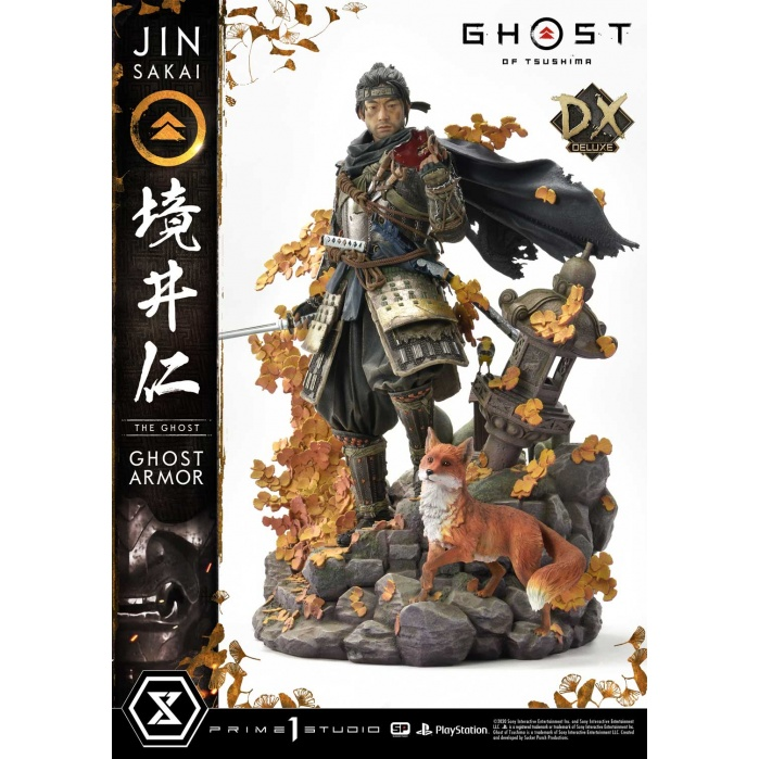 Ghost of Tsushima: Deluxe Bonus Jin Sakai The Ghost - Ghost Armor Edition 1:4 Scale Statue Prime 1 Studio Product