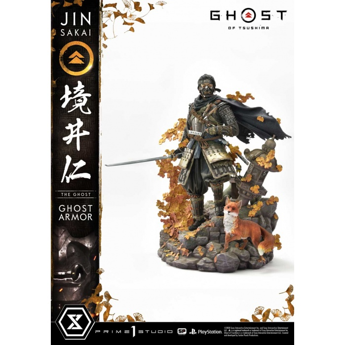 Ghost of Tsushima: Jin Sakai The Ghost - Ghost Armor Edition 1:4 Scale Statue Prime 1 Studio Product