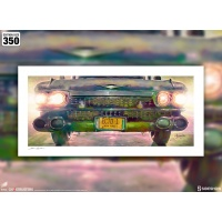 Ghostbusters: Ecto-1 Unframed Art Print Sideshow Collectibles Product