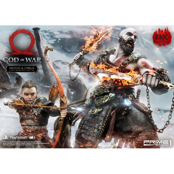 God of War: Deluxe Kratos and Atreus Ivaldi's Deadly Mist Armor Statue Prime 1 Studio Product