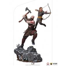 God of War: Kratos and Atreus 1:10 Scale Statue | Iron Studios