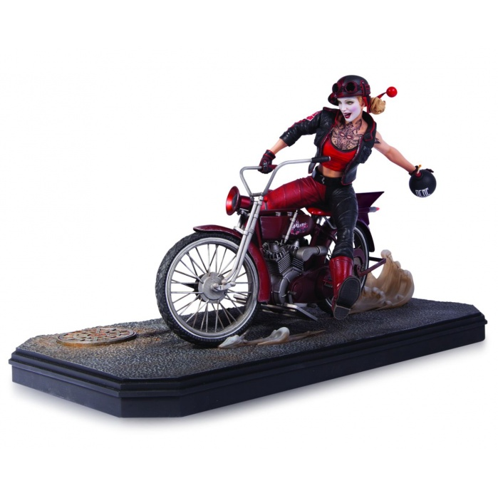Gotham City Garage Statue Harley Quinn DC Collectibles Product