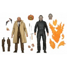Halloween 2: Ultimate Michael Myers and Dr Loomis 2-pack 7 inch Action Figure | NECA