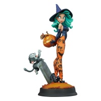 Happy HallowQueens Collection Statue Pumpkin Witch by Chris Sanders Sideshow Collectibles Product